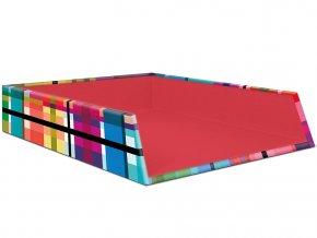 Organizér na psací stůl, funkční odkladač na dokumenty s barevným potiskem