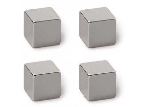 Neodymové magnety na tabule nebo ledničky, moderní magnetické kostky