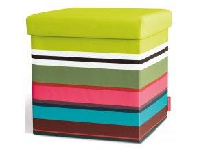 Skládací sedák s úložným prostorem, svěží sedák s barevným vzorem