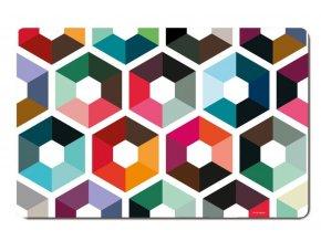 Prostírání na stůl s barevným vzorem, moderní podložky pod talíře