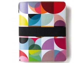 Zápisník v kožené vazbě, barevný organizér