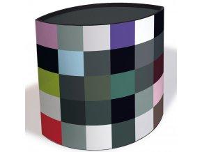 Koš na smetí do pokoje s moderním vzorem, barevná nádoba na odpadky