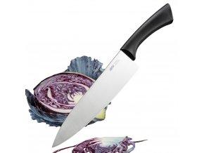 Profesionální nůž šéfkuchaře z nerezové oceli, pohodlný a efektivní kuchyňský přistroj pro řezání.