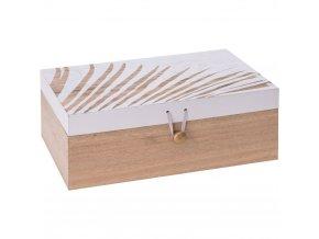 Úložní schránka s dřeva, dekorativní dřevěná rakev s bílým dekorem na víku