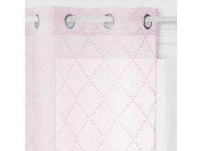 Okenní záclona v pastelově růžové bude skvěle vypadat v romantických interiérech - 240 x 140 cm