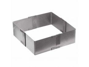 Forma na pečení z nerez oceli, univerzální tvar na moučníky, s praktickou regulací velikosti