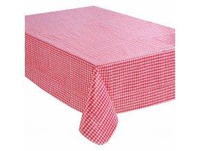 Kostkovaný ubrus odolný proti skvrnám, praktická povoskovaná (PVC) kuchyňská pokrývka stolu a ubrus na zahradní nábytek s moderním vzorem
