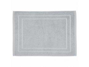 Šedý koupelnový kobereček z bavlny, vysoce kvalitní podložka do koupelny z přírodního materiálu