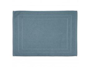 Šedomodrý koupelnový ručník z bavlny, vysoce kvalitní ručník  do koupelny z přírodního materiálu