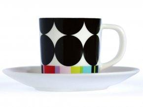 Šálek na espreso s podšálkem, porcelánové nádoby v moderním stylu