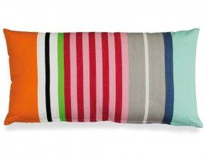 Ozdobný proužkovaný bavlněný polštář, 30 cm