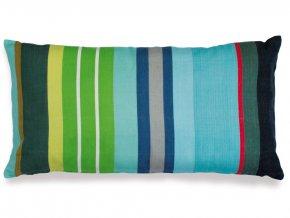 Proužkovaný povlak na polštář, obdélný ozdobný polštář z bavlny