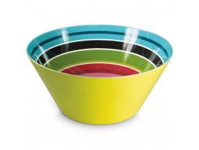 Mísa na ovoce s barevným vzorem, velká miska na ovoce z melaminu