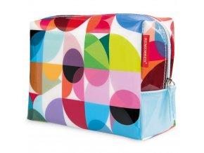 Dámská kosmetička s barevným vzorem do kabelky, malý kufřík na kosmetiku z odolného materiálu