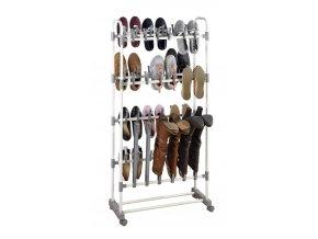 Police na boty ADONIS, kovová police, police na obuv, kovový regál, botník, stojan na boty, stojan na obuv, regál na boty, regál na obuv  -  pro 39 párů bot,  66,5 x 138 x 29 cm, WENKO