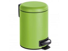 Koupelnový odpadkový koš v zelené barvě LEMAN MATT, 3 l, WENKO