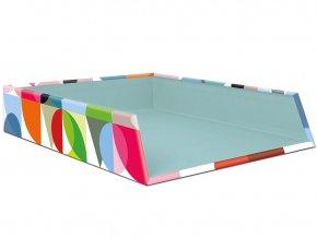 Kancelářský organizér, praktický a barevný box na dokumenty a poznámky