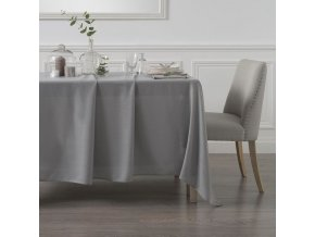 Ubrus, ubrus obdélníkový, ubrus s tečkami, šedá barva, 140 x 240 cm