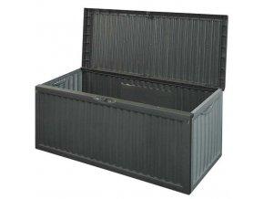 Velký zahradní kufr z masivního plastu, univerzální box s velkou kapacitou