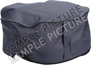 Nafukovací sedadlo v šedé barvě, praktické a snadno skladovatelné