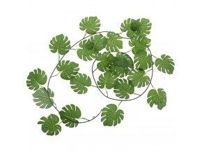 Věnec z listů z plastu, umělá rostlina pro zdobení interiérů