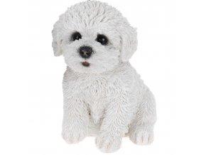 Dekorativní figurka psa s poliresingu, figurka štěně s velmi okouzlujícím a realistickým vzhledem