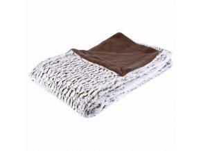Přehoz napodobující kožešinu na postel a pohovku, měkký a načechraný pléd na pohovce