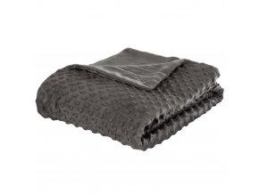 Měkká deka na postel a gauč, načechraný a hustý přehoz