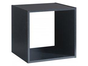 Dekorační polička na zeď, černý nábytek lze také položit na komody a psací stoly