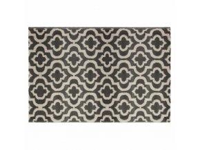 Koberec v módním vzoru marockého jetele, šedá barva hodící se do každého interiéru – 170x120cm