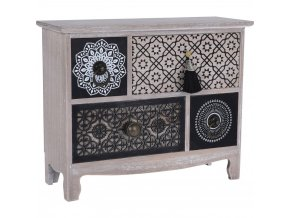 Mini komoda roztomilý nábytek na doplňky kosmetiky cennosti v orientálním stylu