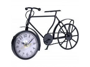 Dekorační hodiny ve tvaru jízdního kola z černého kovu, originální ozdoba ve vintage stylu