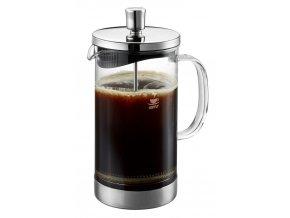 Pístový sáček na kávu nebo čaj, elegantní skleněná mísa s plastovým víkem