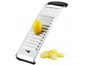 Kráječ - struhadlo na brambory z nerezové oceli, 12 ostrých čepelí na krájení plátků vařených brambor