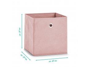 Fleece box, textilní krabička, organizátor tkanin ZELLER.