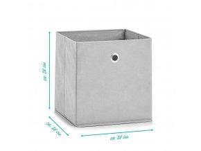 Fleece box, organizátor s univerzálním použitím, textil box pro snadnou údržbu.