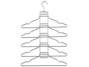Kovové věšáky na oblečení 5 v 1, držák na oblečení - ZELLER