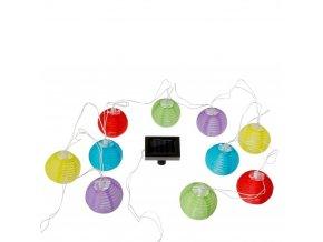 Solární věnec, zářící koule, světla, 10 kusů, barevné