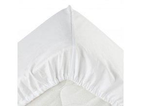 Bavlněný plech - bílý, 90 x 190 cm