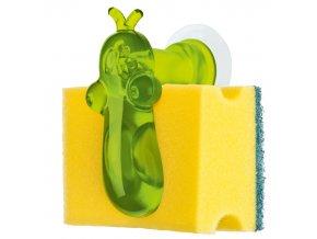 Držák na kuchyňské houbičky NORBERT - barva zelená, KOZIOL