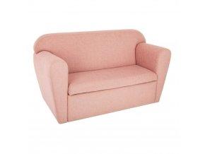 Dvojitá pohovka s přihrádkou - růžová, 80 x 35 x 45 cm