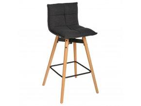 Barová stolička, zvednutá židle, měkké sedadlo, výška: 96 cm, černá