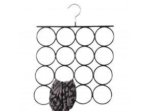 Závěs na šátky a popruhy pro šatní skříň, skříň v černé barvě