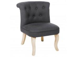 Pohodlná židle s opěradlem CALIXTE Small okouzlující židle pro toaletní stolek - tmavě šedá