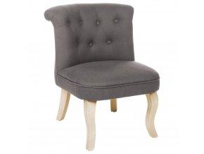 Pohodlná židle s opěradlem CALIXTE Small okouzlující židle pro toaletní stolek - světle šedá