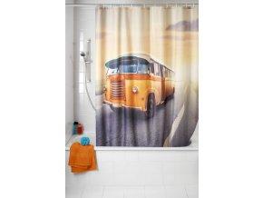 Sprchový závěs, textilní, Vintage Bus, 180x200 cm, WENKO