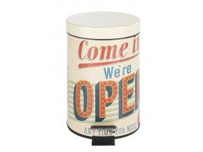 Koupelnový koš Vintage Open, odpadkový koš, 3 l, WENKO