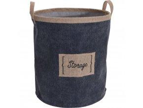 StorageSolutions koš na prádlo s džínovými rukojetí