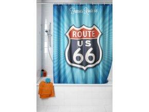 Sprchový závěs, textilní, Vintage Route 66, 180x200 cm, WENKO