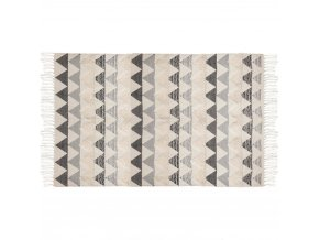 Bavlněný koberec s atraktivním grafickým designem, 90x150 cm